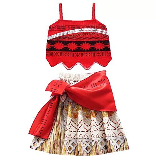 thematys Vaiana Hawaii Kostüm für Kinder - perfekt für Cosplay & Karneval - 5 Verschiedene Größen (130cm) (Urlaub Kostüm Kinder)