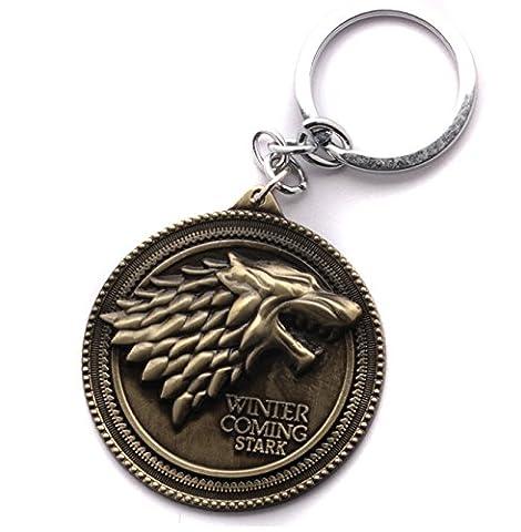 Game of Thrones Keyring - House Stark - Antique Bronze