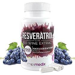Resveratrol Kapseln 500mg Original – 100% Natürliche Tabletten Mit Rotwein-Extrakt Zum Abnehmen – Voller Antioxidantien Und Schützt Die Zellen Vor Freien Radikalen Mit Anti-Aging Wirkung