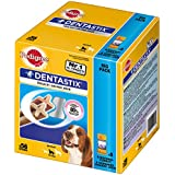 Pedigree DentaStix Hundeleckerli für mittelgroße Hunde / Kausnack mit Huhn- und Rindgeschmack gegen Zahnsteinbildung für gesunde Zähne / 1x56 Stück