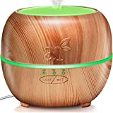 ArtNaturals Aromaterapia Difusor de Aceites Esenciales - (5.0 Fl Oz / 150ml) - Humidificador de Vapor Frío - Auto Shut Off - 7 Colores de LED, Para Bebé, Yoga, Oficina, Hogar, Dormitorio y Baño