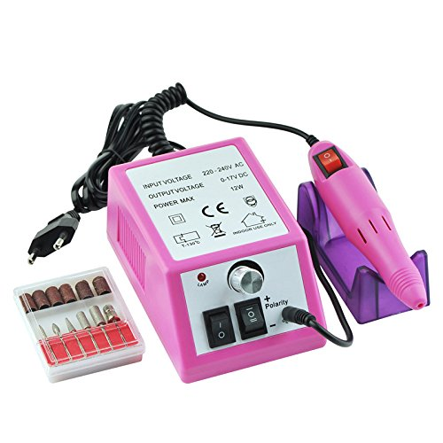 zreal Professionelle Elektro Acryl Maniküre Nail Drill File Machine Kit-EU USA. Steckdose