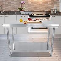 Mesa de trabajo de acero inoxidable K ̈1che mesa de acero inoxidable, mesa de trabajo de acero inoxidable mesa de trabajo mesa de restaurante y mesa preparatoria de trabajo