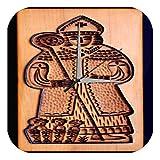 leotie fashion&lifestyle Horloge Murale Nostalgique Cutter évêque Imprimee Plexiglas