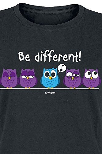 Be Different Girl-Shirt Schwarz Schwarz
