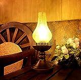 MOMO Luodan Kai Continental Retro Vintage Petroleumlampe Schlafzimmer Nachttischlampe Kreative Lampe Antik Lampe Republik