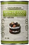Naturseed - Nata de coco ecológica para cocinar, 4x400ml sin lactosa 100% natural. Nata Vegetal