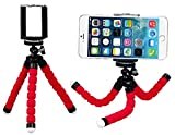 Mini Professional Flexible Octopus Tripod Mount Holder With 360 Degrees Rotating Tripus For Mobile Phones (Red)