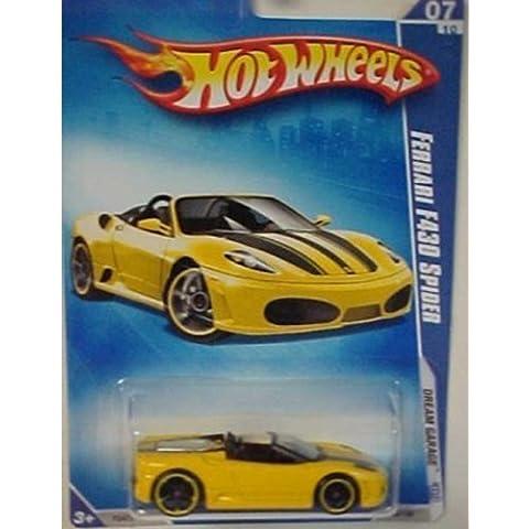 Hot Wheels 2009 Ferrari F430 Spider (yellow) Dream Garage 153/190, 1:64 Scale. by Mattel
