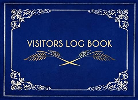 Visitors Log Book: Visitors Record Book for Signing In and Out, Blue Elegant Design Ideal for Any Business, Offices, Hotels, B&B, Guest Houses