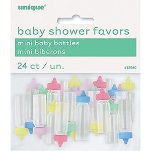 Plastic Mini Baby Bottles 24/Pkg-Assorted , Modelos/colores Surtidos, 1 Unidad