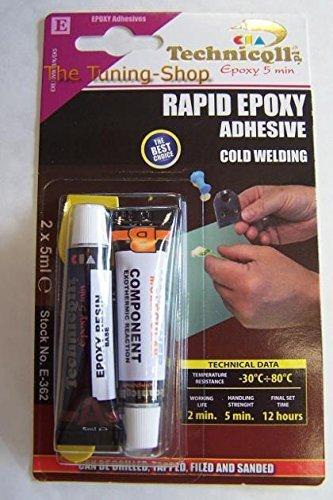 Epoxid-Klebstoff Kleber RAPID 5 MIN, für Metall, Holz, Glas, Kunststoff, Ziegel, Beton, sehr Stabil NEU