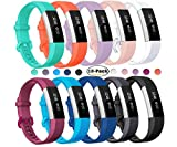 Kaing Compatible with Alta HR and Alta Band Replacement, Fashion Sports Silicone Accessory Replacement Bands with Clasp For Fitbit Alta HR and Alta/ACE racelet Sport (10pack, Large)
