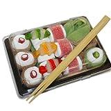 Sweet Sushi – 240g Schaumzucker- und Fruchtgummimischung (Süßes Sushi)
