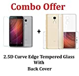 #9: RTCO™ COMBO Protective Soft Transparent Back Case Cover With Free Tempered Glass Screen Protector For Xiaomi Redmi Note 4