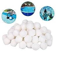 Swimming Pool Essential,fasloyu Swimming Pool Cleaning Equipment Filter Media Net Bag Filter Fiber Ball (1 Pack)