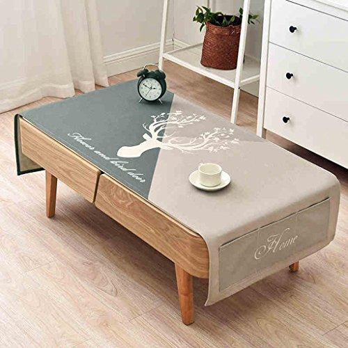 Baumwolle Leinen Bettwäsche Wohnzimmer Tischdecke / rechteckige Couchtisch Tischdecke / einfachen Kühlschrank TV-Schrank Staubschutz , 2 , 80*190cm