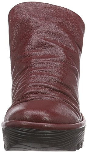 Fly London YIP Damen Kurzschaft Schlupfstiefel Rot (Cordobared 020)