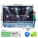 FORWALL Vlies Fototapete Tapete Vliestapete Dekoshop Eishockey Ring Teenager ADW1201VEXXL (312cm x 219cm) Photo Wallpaper Mural