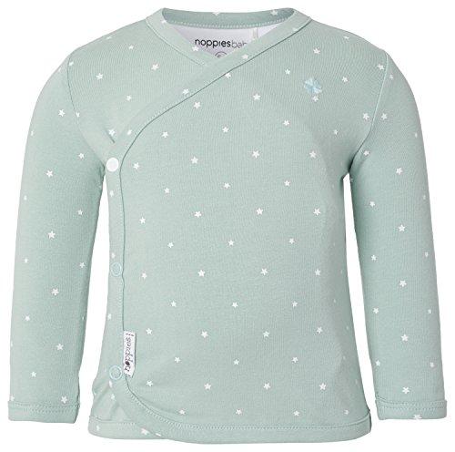 Noppies Unisex Baby T-Shirt U Tee ls Anne AOP, Sternchen, Gr. 62 (Herstellergröße: 62), Grün (Grey Mint C175)
