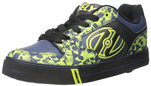 Heelys Motion Plus, Scarpe da Skateboard bambine Multicolore Black/Navy/Lime