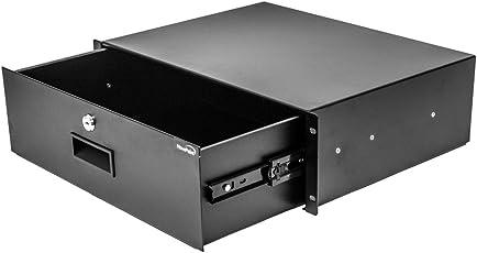 "NavePoint Server Cabinet Case 19"" Rack Mount DJ Locking Lockable Deep Drawer with Key 3U"
