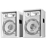 Malone PW-1222 All-White PA-Lautsprecherpaar (3-Wege System, 30cm (12 Zoll), Flansch) - 1200 Watt