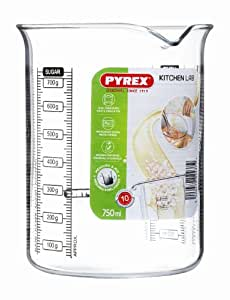 Pyrex 755040 Kitchen Lab Messbecher, 0,75 L