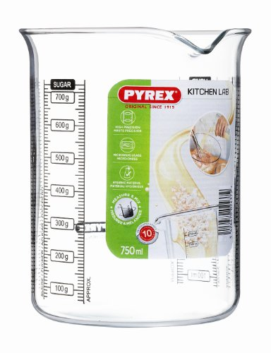 Pyrex Kitchen Lab - Vaso medidor, 750 ml
