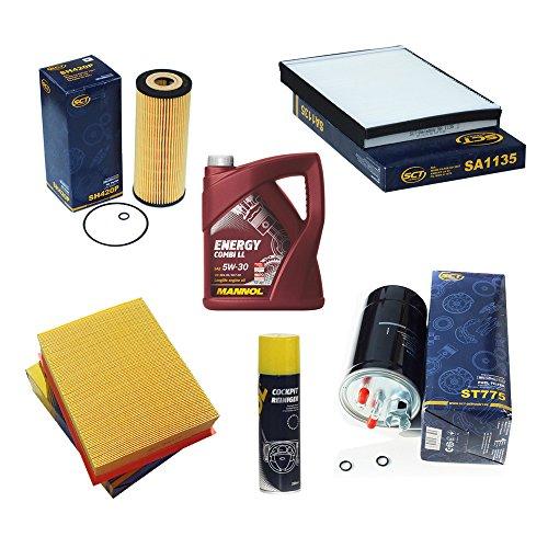 Inspektionspaket SCT Aktivkohlefilter Luftfilter Ölfilter Kraftstofffilter Motoröl Geschenk