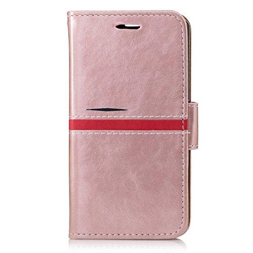 Sony Xperia Z1 Mini Custodia Cover, adorehouse Custodia Flip Pelle Cover PU Leather Wallet Case Flip Protettiva Portafoglio Cover per Sony Xperia Z1 Mini (Rosa)