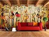 Tapete Fototapete Hintergrund-Tapeten 3D Tapeten Customize 3D Fototapete Bar Ktv Persönlichkeit Retro Europäischen Menschen Pharao Von Ägypten 3D Wandbild Tapete