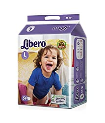 Libero Large Size Open Diapers(54 Counts per Pack)