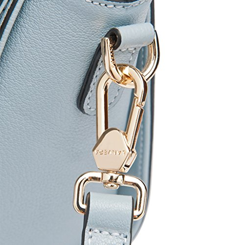 Mena UK Borsa della borsa della spalla del sacchetto di Tote del cuoio ( Colore : Grey Blue , dimensioni : 21cm*18cm*12cm ) Grey Blue