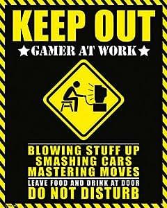 Póster Keep Out - Gamer at Work , Las mejores fotografías con colores brillantes. Calidad garantizada., 40 x 50 cm