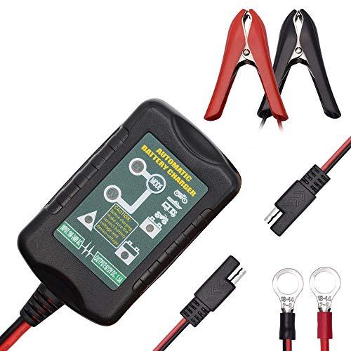 CWWHY Erhaltungsladegerät Automatische Wartung 6 V 12 V 1.5A Tragbare Smart Float für Auto Auto Motorrad Blei-Säure-Batterien