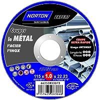 Norton Tronçonnage fin Plate expert Métal/Inox 115 x 1 x 22,22