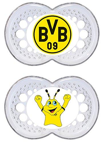 """Preisvergleich Produktbild MAM 67549200 - Original Silikon 6-16 M """"Borussia Dortmund"""", transparent"""