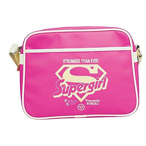 Supergirl Pink kleine Retro Tasche