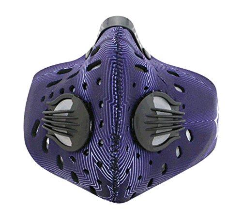 Mise à niveau de ski Vélo Moto coupe-vent anti-poussière et demi masque visage violet foncé