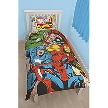 Character World Marvel Comics Justice - Juego de ropa de cama individual, multicolor