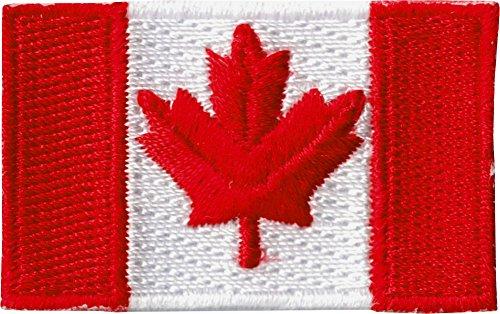 4,4cm klein-Kanadische Flagge gesticktes Eisen auf oder Nähen auf Patch -