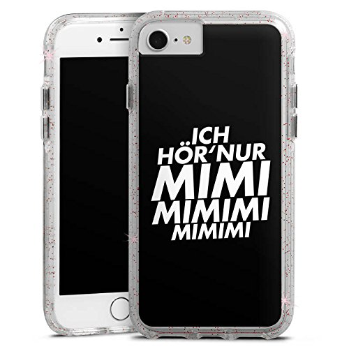 Apple iPhone X Bumper Hülle Bumper Case Glitzer Hülle Sprüche Sayings Phrases Bumper Case Glitzer rose gold