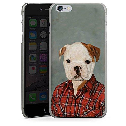 Apple iPhone X Silikon Hülle Case Schutzhülle Hund Dog Bulldogge Hard Case anthrazit-klar