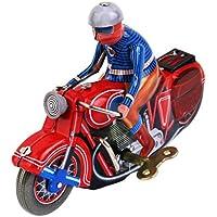 Sharplace Juguete de Cuerda Modelo Moto Metal Regalo de Colección para Niños Rojo
