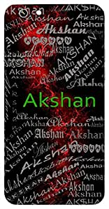 Akshan (Eye) Name & Sign Printed All over customize & Personalized!! Protective back cover for your Smart Phone : Samsung Galaxy E5