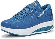 Womens Platform Wedge Casual Walking Shoes Ladies fashion design Sneakers SH17