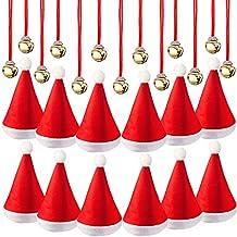 16 Pezzi Cappelli di Santa Natale Cappello con 16 Pezzi Jingle Bell Campane  Collane per la c3d54606c8e1