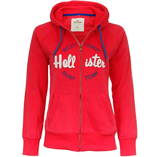 Hollister - Hoodie Femme - Rouge - Medium