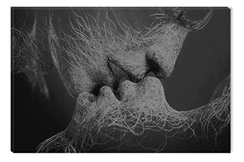 Startonight Leinwand Wand Kunst Schwarz und Weiß Adam und Eva, Doppelansicht Überraschung Modernes Dekor Kunstwerk Gerahmte Wand Kunst 100% Ursprüngliche Fertig zum Aufhängen 80 x 120 CM